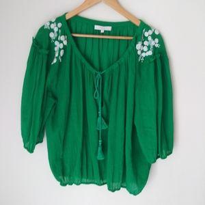 San & Soni boho blouse Size S
